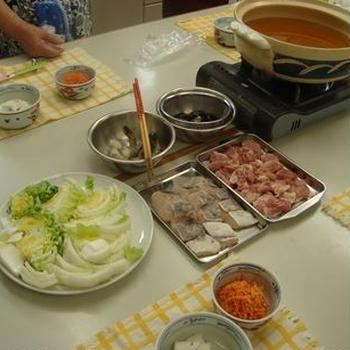 パスタ教室☆うどん鍋