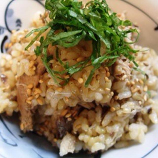 玄米さんまご飯