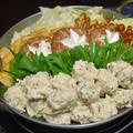 鶏つくねのちゃんこ鍋。お鍋の季節、大相撲の季節の我が家の定番。