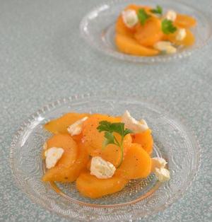 柿とクリームチーズ和え