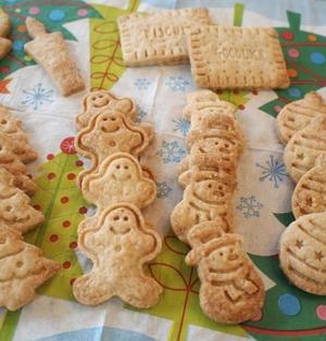 バター・卵不使用!さくさくジンジャークッキー&リース風クッキー♪