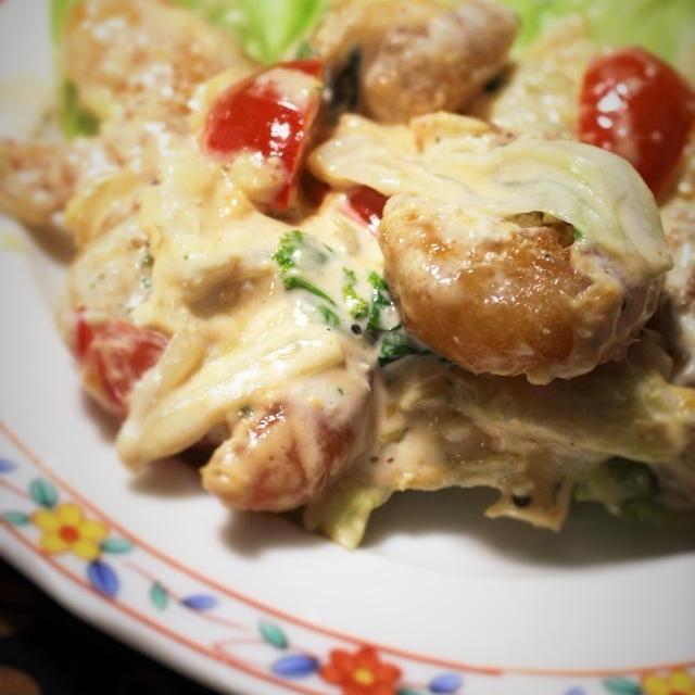 <エビマヨフリッター炒め>と<豚肉と玉ねぎの甘うま焼き>