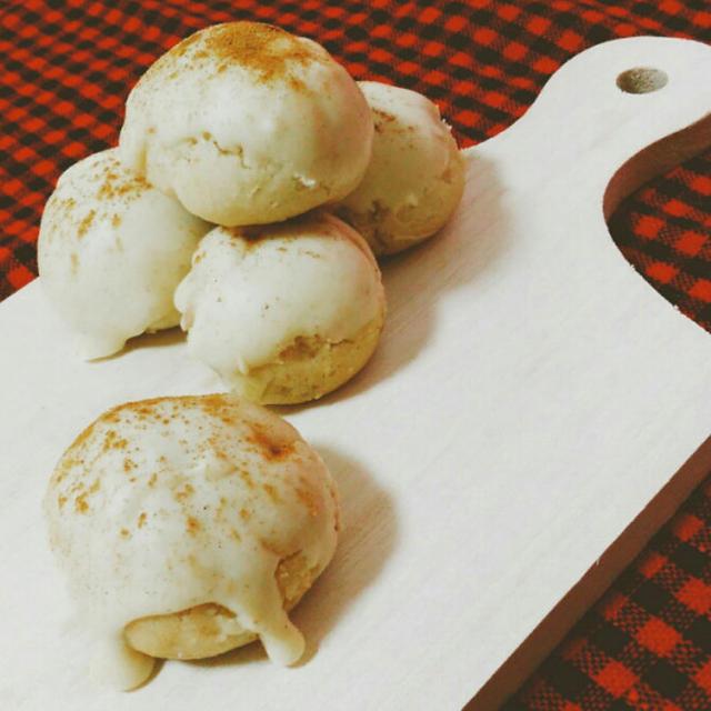 【ポリ袋で作る】シナモンとホワイトチョコのスノーボールクッキー【簡単】
