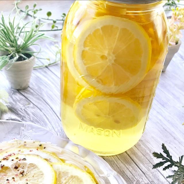レンジで作ったレモン酢