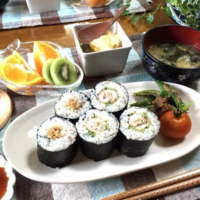ちくわのツナマヨ海苔巻きde朝ごはん♡補食にもオススメ!