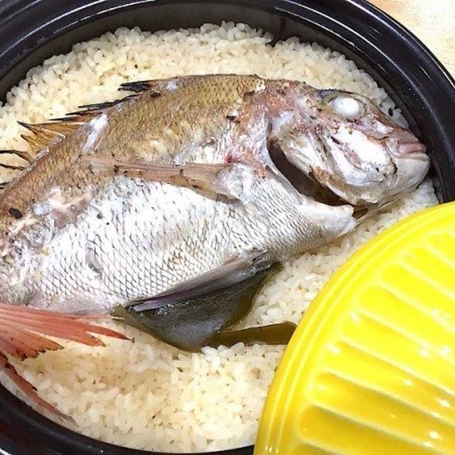 土鍋で簡単ふっくら鯛めしのレシピ♬