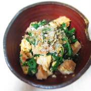 残った煮物と春菊の和え物 by ララさん