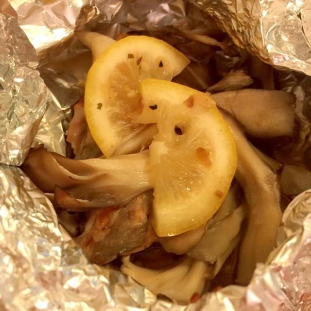 秋鮭ときのこのレモンバター焼き~まごわやさしいうちごはん~
