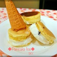 【モニターおやつ】パンケーキとアイスの素敵なコラボ(((o(*゚▽゚*)o)))