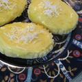 パインアイスのせチーズ蒸しケーキ