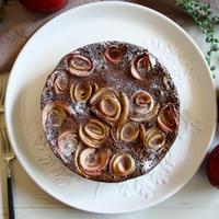 【簡単!炊飯器で!!】バラのココアチーズケーキ