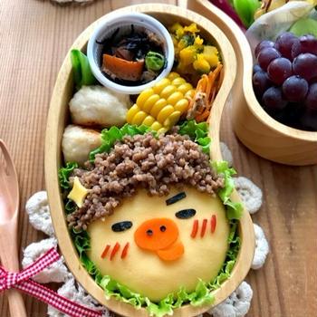 《キャラ弁》アフロなキイロイトリ作り方♡ピカチュウのお弁当♡作り方