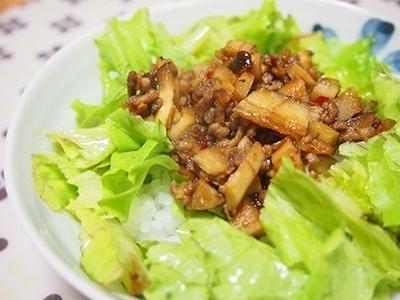 ■レシピ■花椒入り牛蒡の肉みそ丼