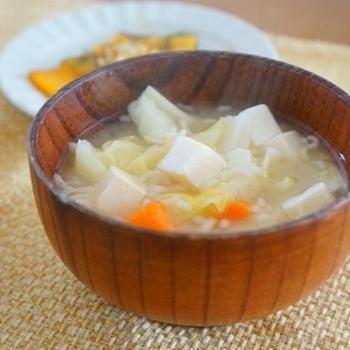 【モニター】「うちの満菜みそ汁」~キャベツとじゃがいもと豆腐としらすの具沢山みそ汁