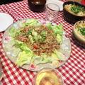 【休日ランチにぴったり♪】ひき肉のトマトバジル炒めでタコス!