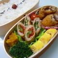 6月12日 鰯の梅シソフライと肉巻きのお弁当 by カオリさん