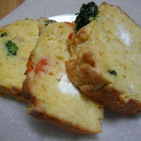 美味安心クリームチーズと春の山菜のケーク・サレ