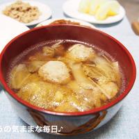 鶏団子汁で夜ご飯☆