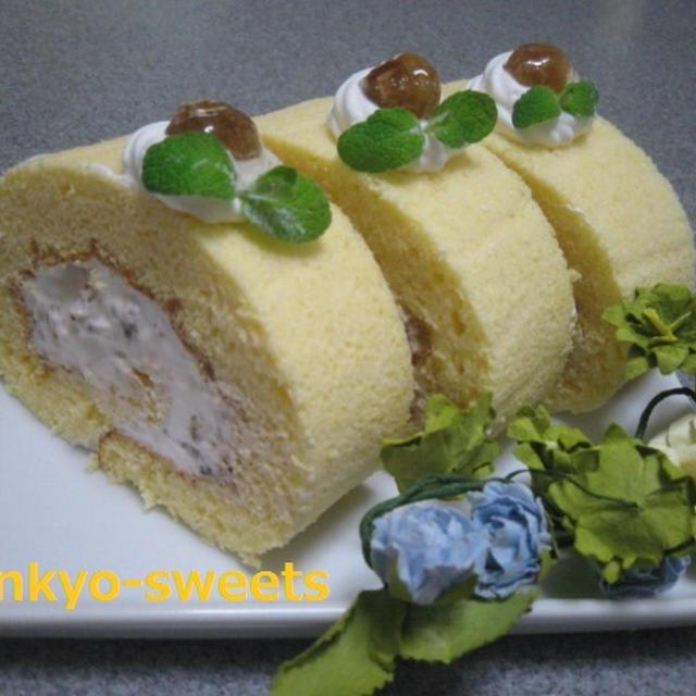 ふわふわ~☆マロンロールケーキ
