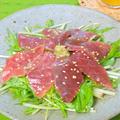 簡単!おうち居酒屋〜まぐろと水菜のおつまみサラダ。 by akkiさん