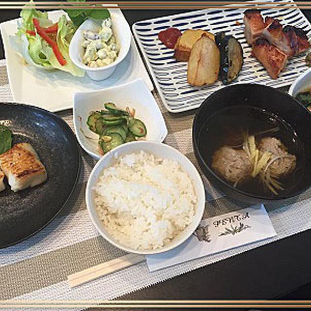 「ご飯食べさせては」鶏もも肉の柚子胡椒入り味噌漬け焼きで~♪