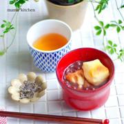 炊いた小豆で♡善哉の朝ごはん。そして週末ごはんは、『豆乳鍋』