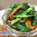 料理日記  120 / ほうれん草とひじき煮のはちみつ醤油和え