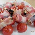 茄子のベーコン巻き&プチトマトピック