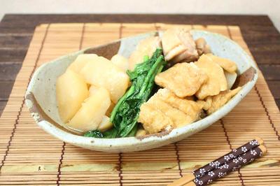 蕪と油揚げの相性バツグン♪鶏肉と蕪の煮物