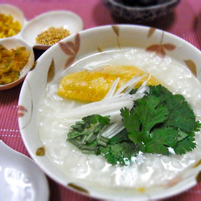 塩鶏(手羽先)の中華粥 ☆