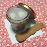豆腐白玉の豆乳ぜんざい