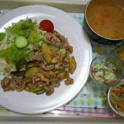 豚肉とズッキーニのポン酢炒め☆(*´ω`*)