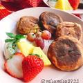 バナナ入り【プロテインパンケーキ】(動画レシピ)