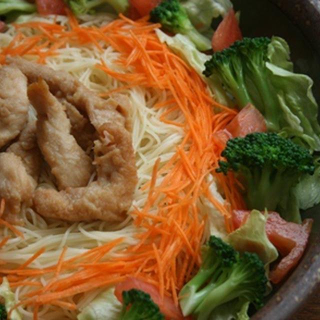 6月20日  鶏ささみの唐揚と野菜の パスタ