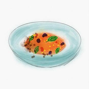 甘酒とブラッドオレンジのグラニテ フロマージュブラン