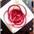 迎春❀おせちの飾り花♬ ✿ 赤かぶの千枚漬け風 ✿なます