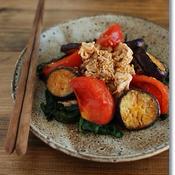 なすとトマトの韓国風豚しゃぶサラダ