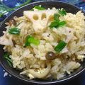 麺つゆで簡単!レンコンとぶなしめじの炊き込みご飯 by TOMO(柴犬プリン)さん