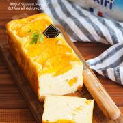 【レシピ】桃缶チーズケーキ。(←生クリーム不要のタイプです)