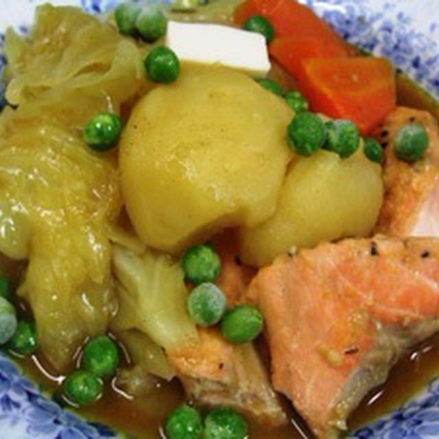 生じゃけと春野菜のカレースープ