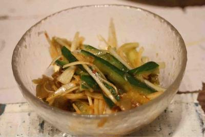 【recipe】ザーサイときゅうりの辛味和え/キッチンから見る成り上がり街道