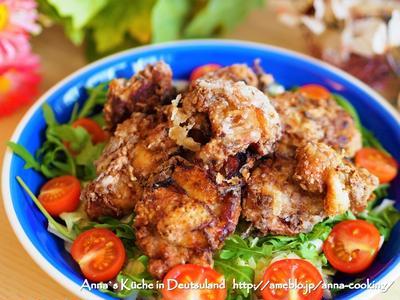 【主菜】定番♡塩麹とフライドオニオンを使った鶏の唐揚げ とクリスマスマーケット♡