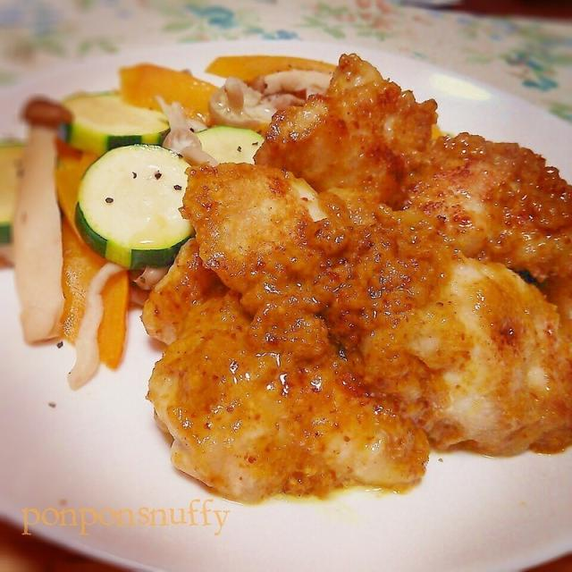 チキンのカレーハニーマスタード焼き