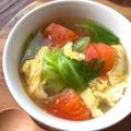 ふわタマ&レタスのスープ♪