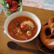 チキンカチャトレ風トマトスープ