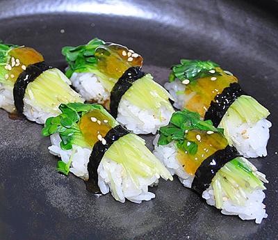 かいわれ大根の昆布締め ☆ お寿司