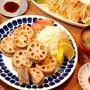 413円*レンコンの挟み揚げ定食【息子、体調を崩す】