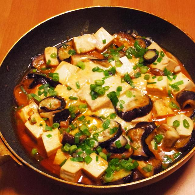 甘辛ナス豆腐 ~ Sweet spicy stir fry