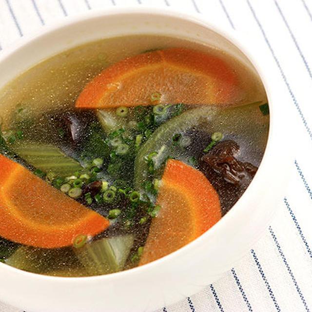 チンゲン菜のうま塩スープ
