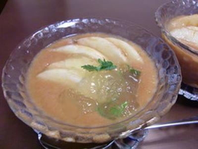 桃の冷製スープの作り方。 白桃スイーツのレシピ